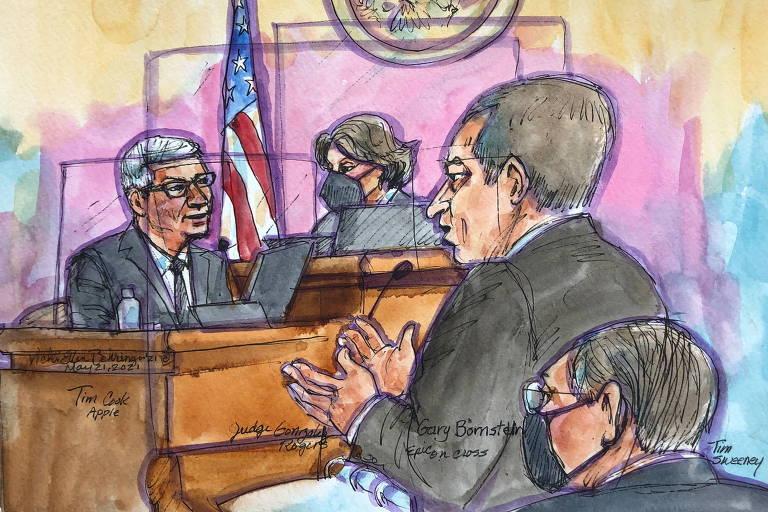 Cook no tribunal; julgamento Apple x Fortnite deve terminar na segunda-feira (24)