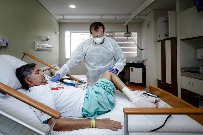 Contaminados pelo coronavírus agora têm que lutar para recuperar os movimentos