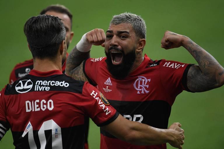 Com dois gols de Gabigol, Flamengo derrota o Fluminense e é campeão estadual