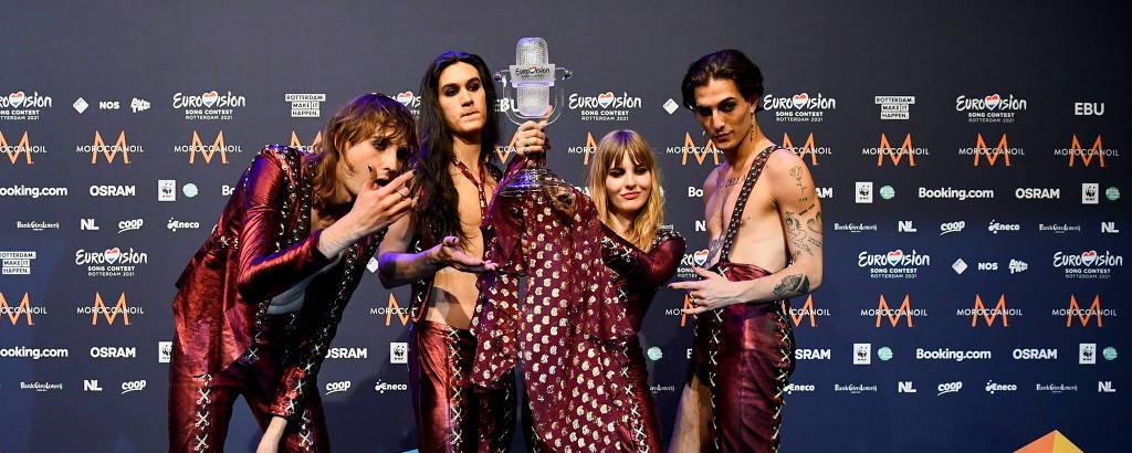 Banda Måneskin, da Itália, vence a edição de 2021 com a canção