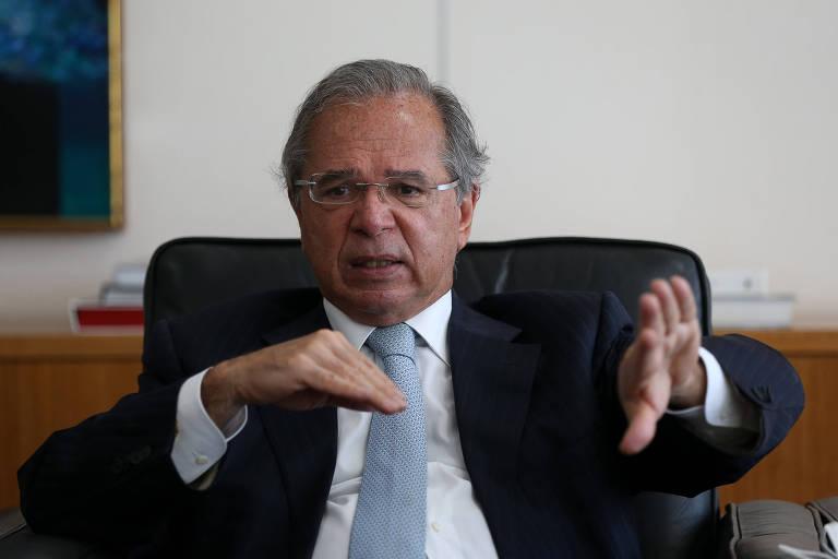 """Paulo Guedes, ministro da Economia; segundo ele, """"a democracia brasileira vai surpreender"""""""