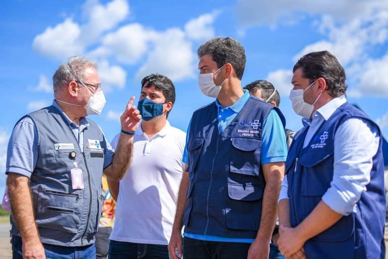 Marcelo Queiroga foi a São Luís para acompanhar o início das medidas de contenção na variante indiana