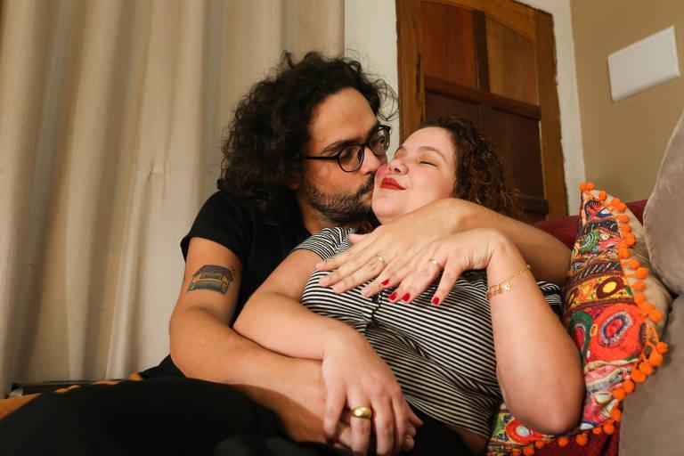 Aline e Felipe Marco optaram pelo microwedding