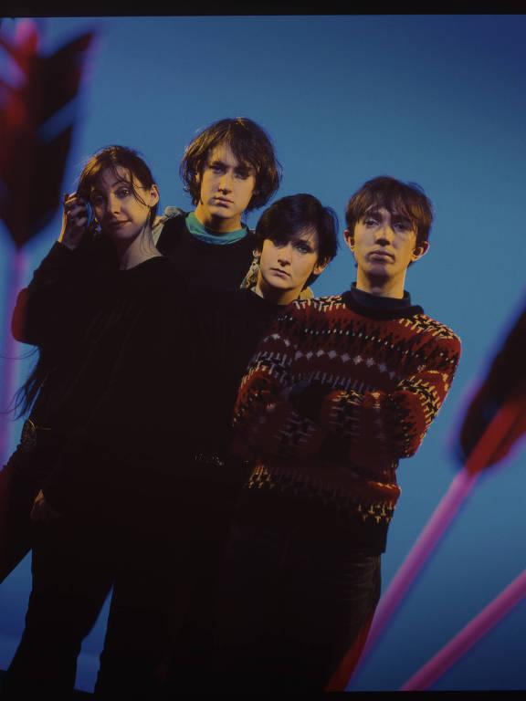 A banda irlandesa de shoegaze My Bloody Valentine, em foto de 1988