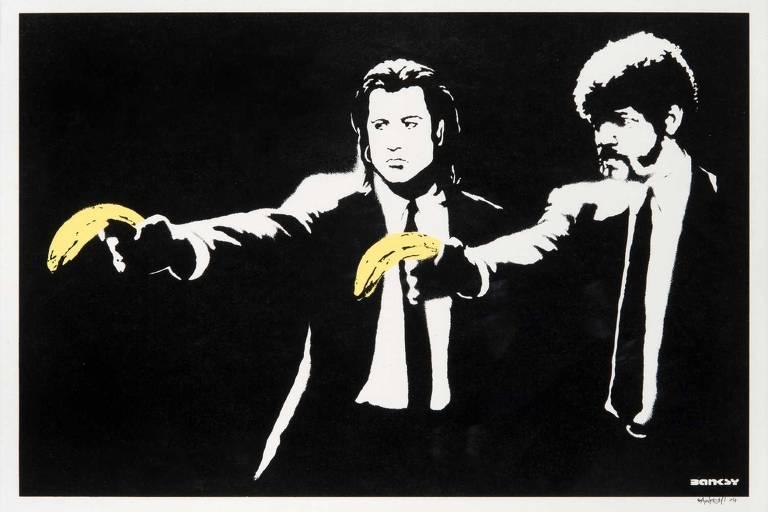 Confira obras de Banksy exibidas em mostra não autorizada pelo grafiteiro em Londres