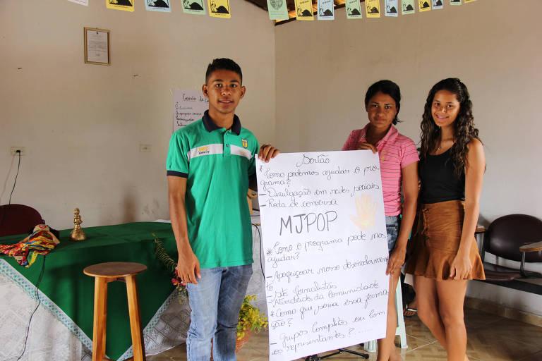 O estudante de geografia Luiz César da Silva, de Mata Grande (AL), criador do projeto Visibilidade da Juventude Rural
