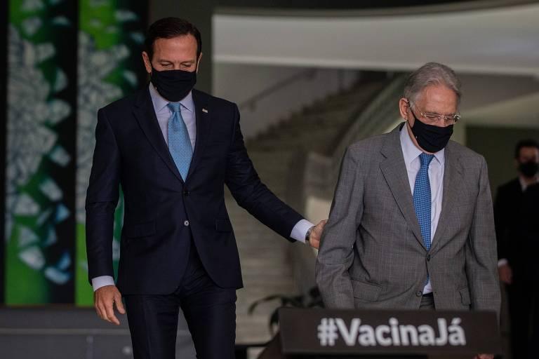 Após almoço com Lula, FHC encontra Doria e dá apoio a prévias do PSDB para candidatura em 2022
