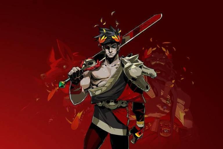 Homem segura espada e usa vestes de luta