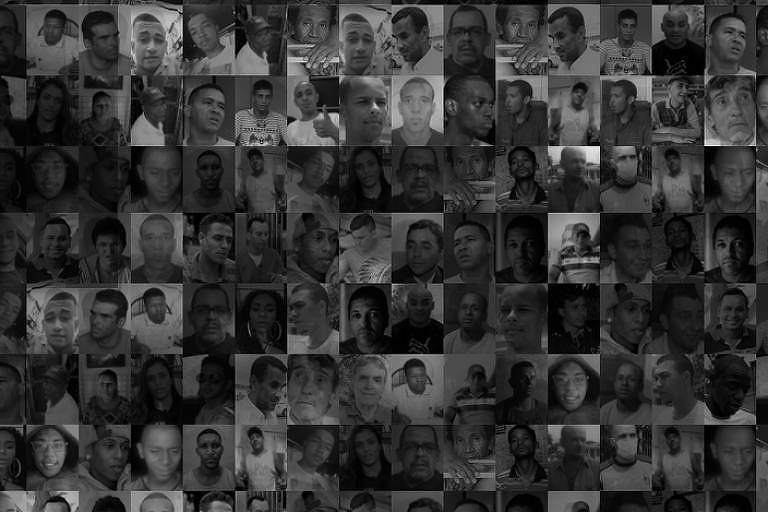 retratos preto e branco de pessoas que foram presas injustamente