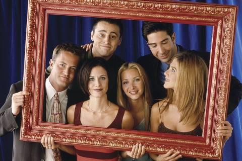 Elenco de 'Friends' em imagem promocional da série
