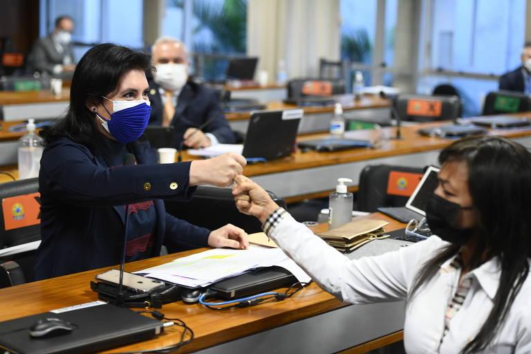 Eliziane Gama e Simone Tebet falarão em live sobre o papel das mulheres na CPI da Covid