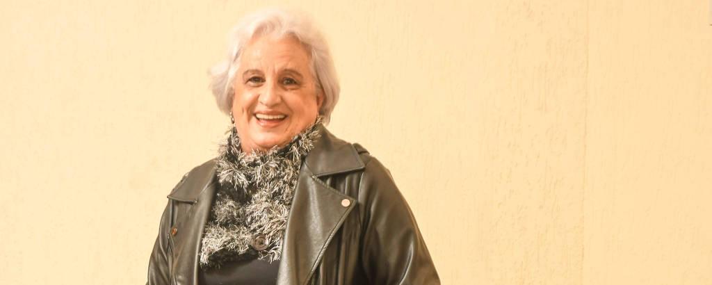 Cida Fernandes, 70, mostra seus looks para o inverno
