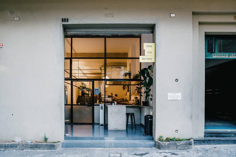 Fachada do Takko Café, na Vila Buarque
