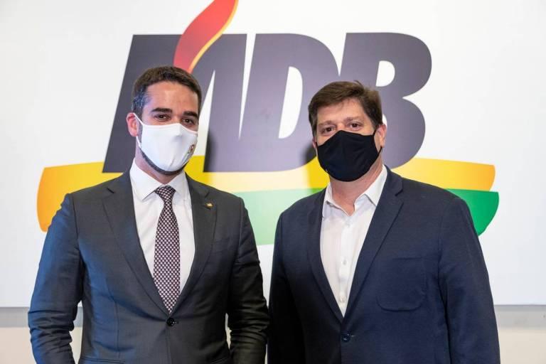 Eduardo Leite se reúne com Baleia Rossi, aliado de Doria, em busca de apoio do MDB para 2022