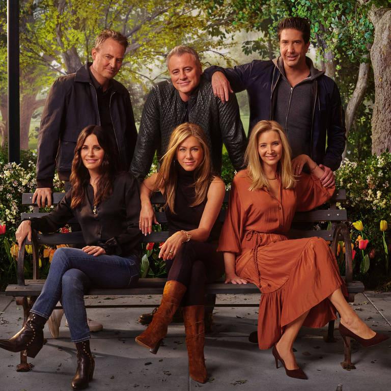 """Pôster do especial """"Friends - The Reunion"""", da HBO Max"""