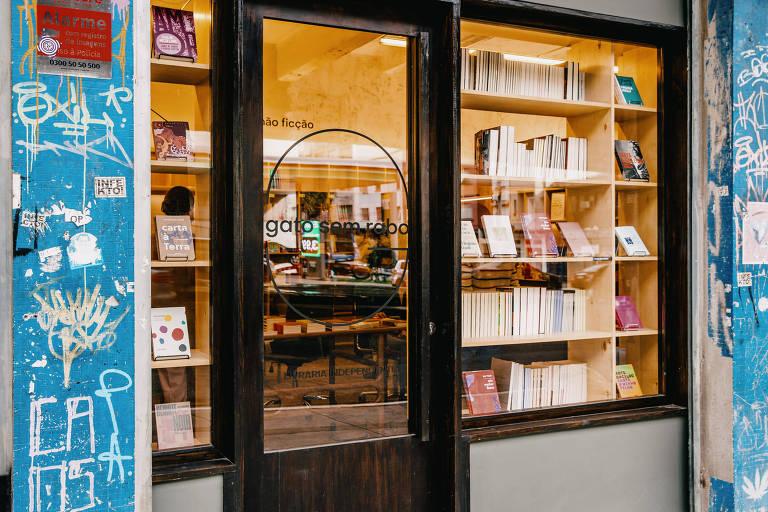 Fachada da livraria Gato Sem Rabo, que será inaugurada na rua Amaral Gurgel