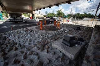 Viaduto Dom Luciano Mendes de Almeida, no Tatuapé, na zona leste de SP