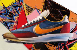 The Nike x Sacai VaporWaffle. (via Nike via The New York Times)
