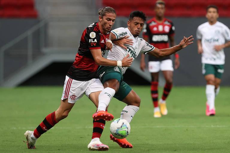 Flamengo e Palmeiras fazem duelo de protagonistas pelo Brasileiro
