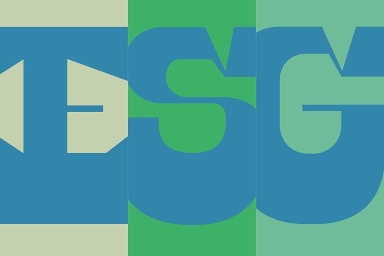 Ilustração tipográfica de Deia Kulpas para o caderno especial ESG: governança e sustentabilidade nas empresas