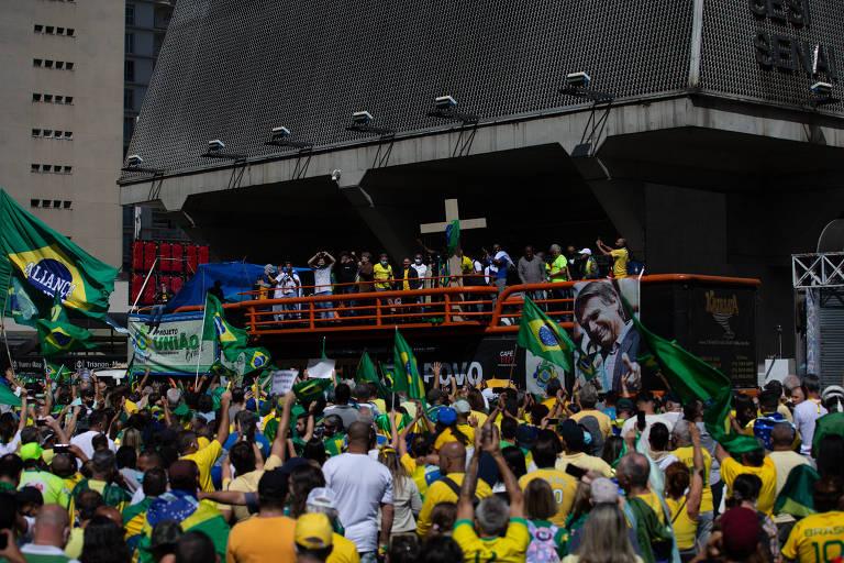Manifestações na avenida Paulista desde 2014