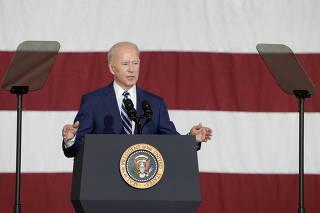 U.S. President Biden and first lady Jill Biden at Joint Base Langley-Eustis in Hampton