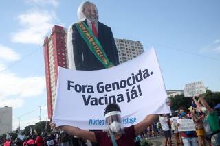 Protest against Brazil's President Bolsonaro, in Rio de Janeiro