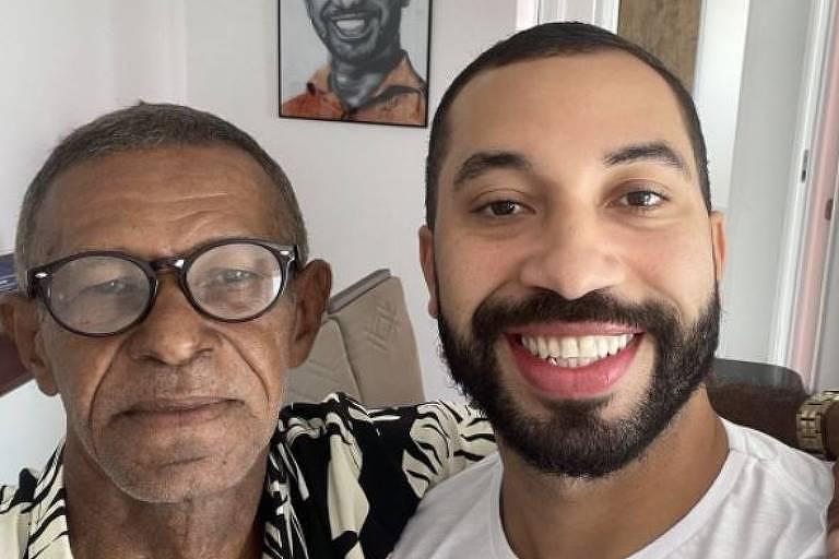 Gil do Vigor comemora reencontro com pai 15 anos após afastamento: 'Te amo'