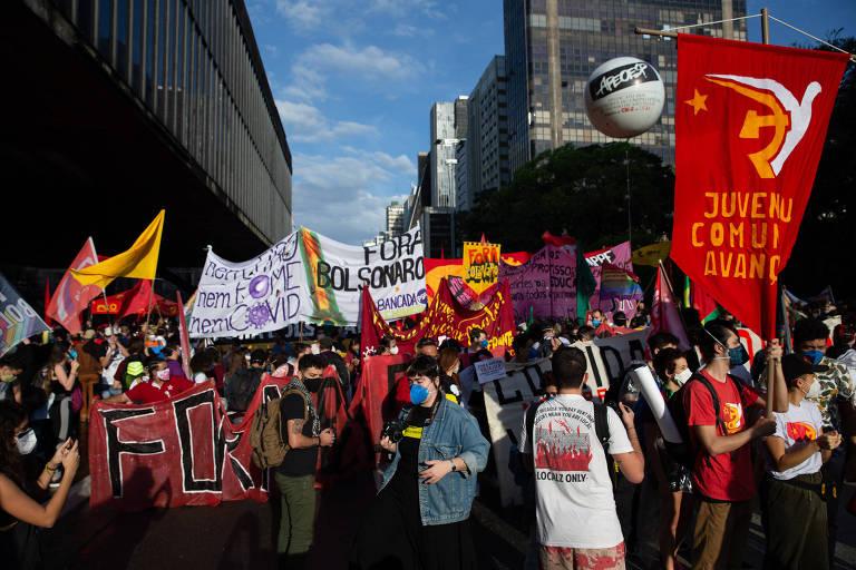 Ato contra Bolsonaro na avenida Paulista, principal palco de protestos em São Paulo