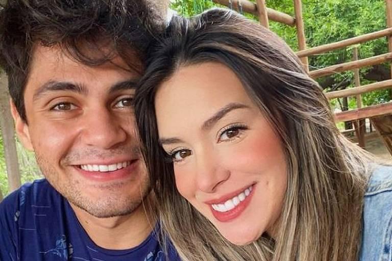 Lucas Veloso e a namorada, Géssica Muniz
