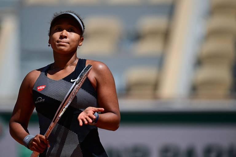 Naomi Osaka após vencer na estreia de Roland Garros