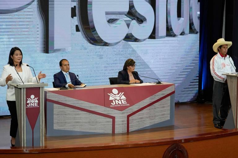 Debate polarizado marca início da última semana antes de eleição no Peru