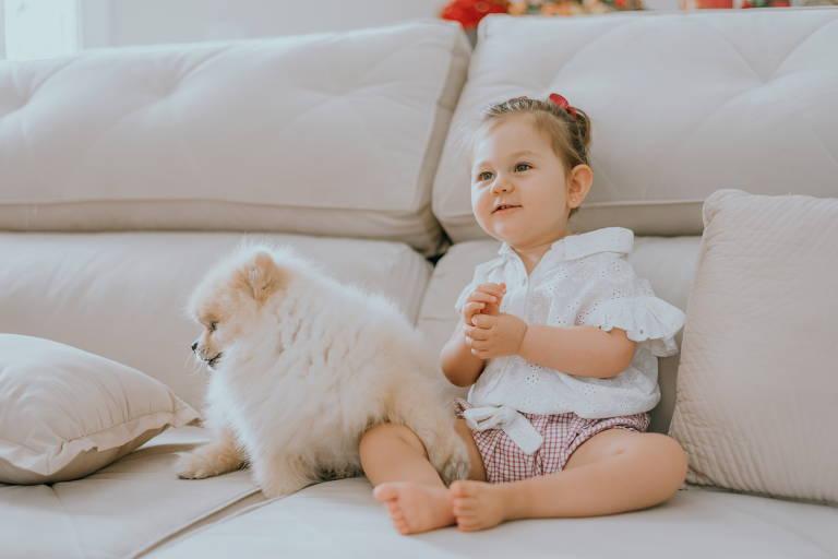 Olivia, 2, portadora de síndrome de Rett