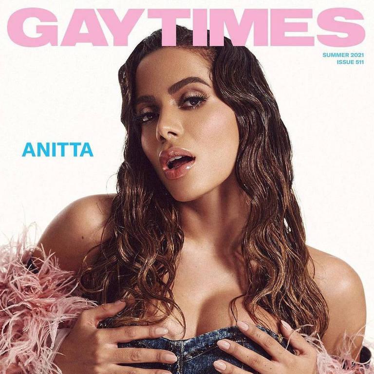 Anitta na capa da revista Gay Times