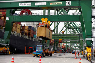 FILE PHOTO: A view of the Terminal XXI at the port of Sines before the visit of U.S. Secretary of Energy Dan Brouillette, in Sines