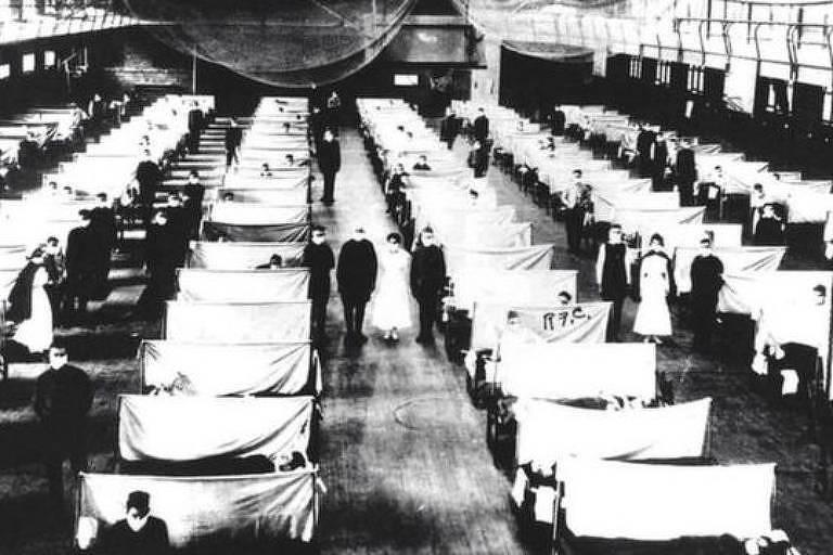 Foto da gripe espanhola para matéria BBC Brasil