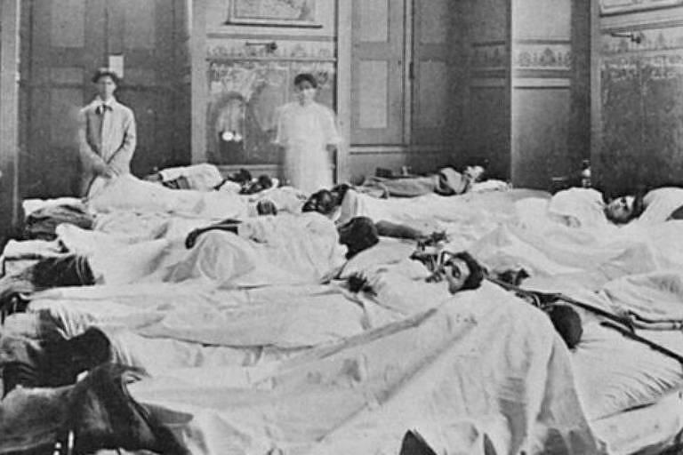 Foto da gripe espanhola enviada pela BBC Brasil