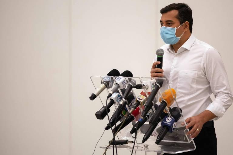 O governador Wilson Lima, alvo da PF nesta quarta-feira (2)