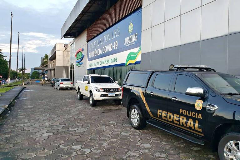 PF cumpre mandado de busca e apreensão no hospital de campanha Nilton Lins, em Manaus
