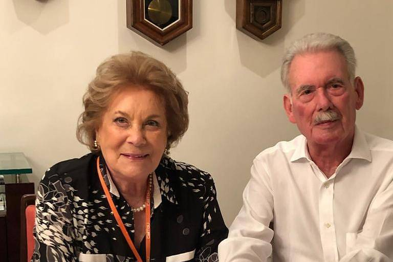 Eduardo Carvalho Tess (1929-2021) e a esposa Beatriz
