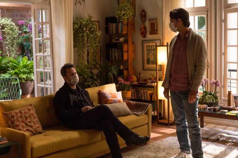 Caio Barone (Selton Mello) e Davi Greco (Rodrigo Santoro) em cena da quinta temporada da série