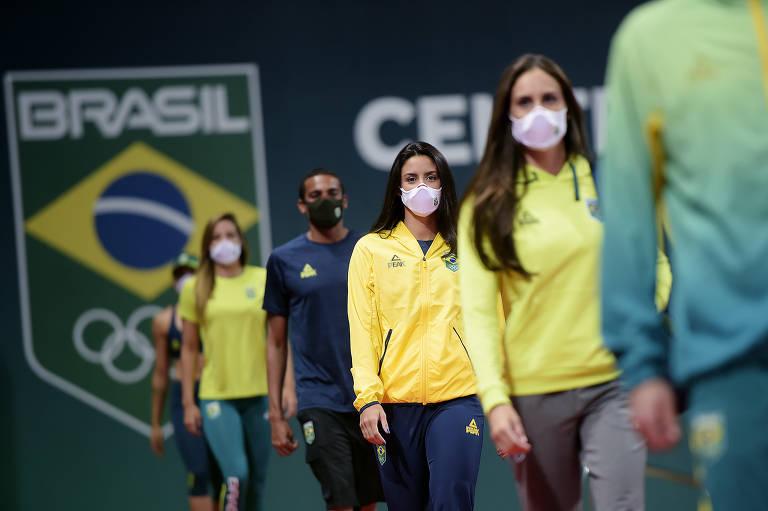 Uniformes da delegação brasileira para Olimpíada de Tóquio