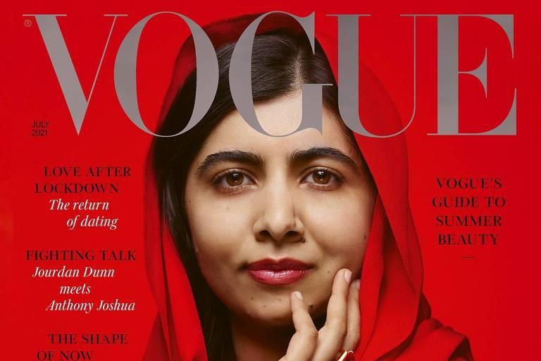 Malala Yousafzai na capa da Vogue britânica