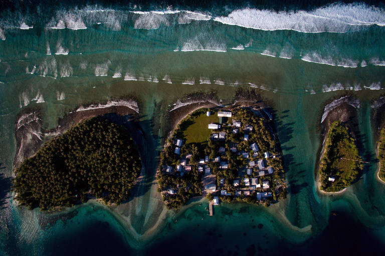 Imagens aéreas de ilhas