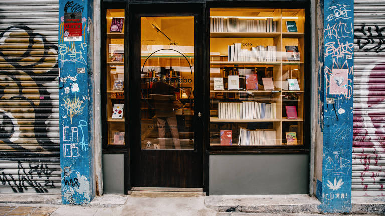 São Paulo, SP, Brasil, 21-05-2021: Guia Folha Santa Cecília/Vila Buarque. Livraria Gato sem rabo. R. Amaral Gurgel, 338. (foto Gabriel Cabral/Folhapress)