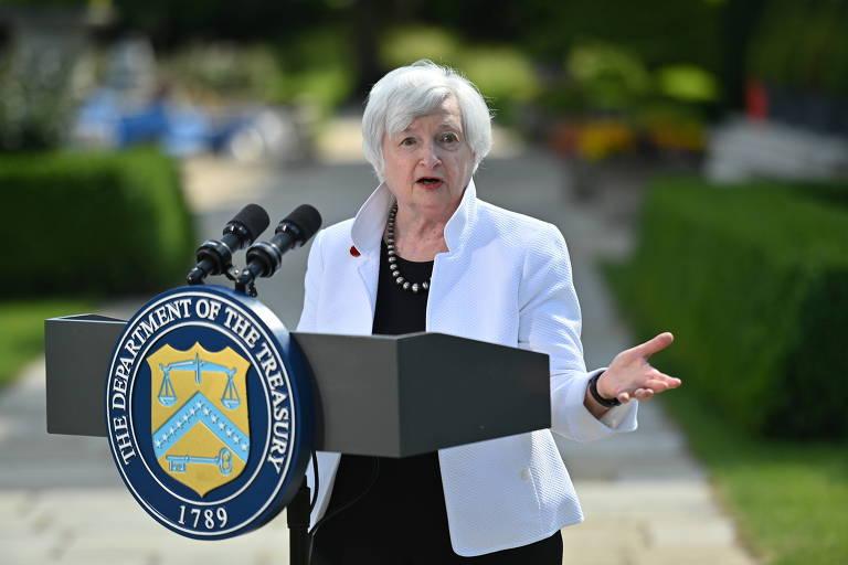 Secretária do Tesouro dos EUA pede que G7 mantenha apoio fiscal às economias