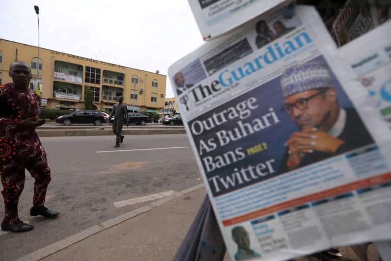 Nigéria suspende Twitter após plataforma remover post de presidente