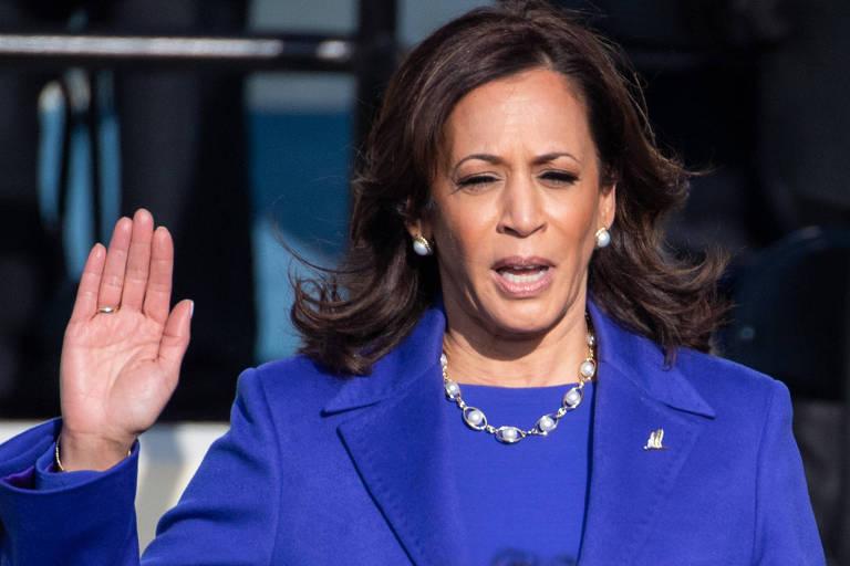 Em seu maior teste político, Kamala assume temas sensíveis à Casa Branca