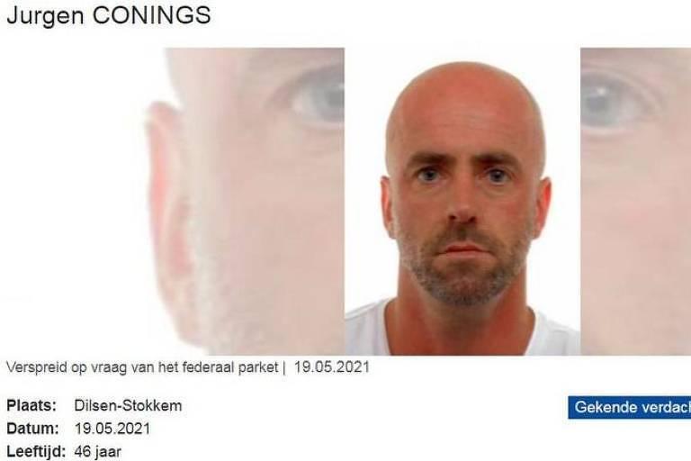 A polícia belga lançou um aviso ao público para não interagir com o suspeito