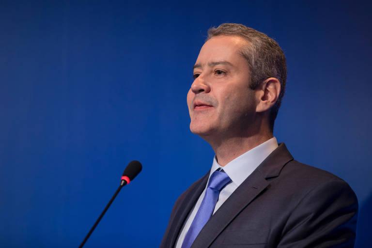 Rogério Caboclo durante sua posse como presidente da CBF, em 2019